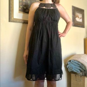 Adrianna Papell Scallop Empire waist classic dress